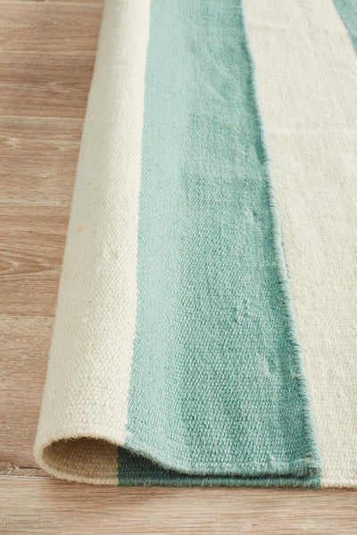 Nomad Pure Wool Flatweave 16 Sky Rug - DISCONTINUED