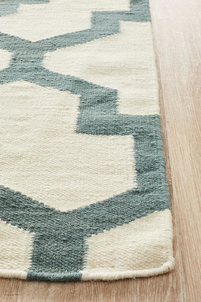 Nomad Pure Wool Flatweave 17 Blue Rug - DISCONTINUED