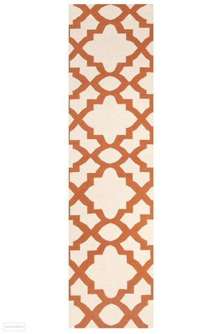 Nomad Pure Wool Flatweave 17 Orange Runner - DISCONTINUED