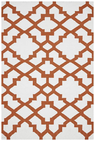 Nomad Pure Wool Flatweave 17 Orange Rug - DISCONTINUED