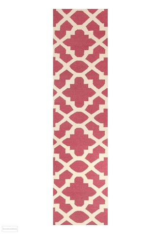 Nomad Pure Wool Flatweave 17 Pink Runner - DISCONTINUED