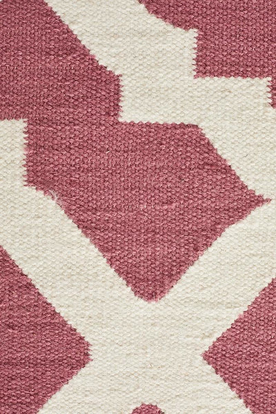Nomad Pure Wool Flatweave 17 Pink Rug - DISCONTINUED