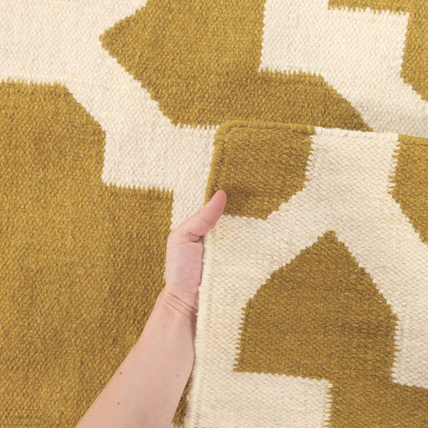 Nomad Pure Wool Flatweave 17 Pistachio Rug - DISCONTINUED
