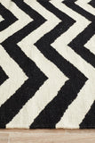 Nomad Pure Wool Flatweave 18 Black-White Rug - DISCONTINUED
