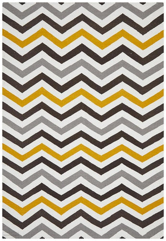 Nomad Pure Wool Flatweave 18 Yellow Rug - DISCONTINUED