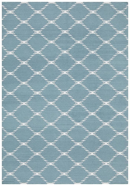 Nomad Pure Wool Flatweave 19 Blue Rug - DISCONTINUED