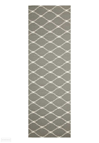 Nomad Pure Wool Flatweave 19 Grey Runner - DISCONTINUED