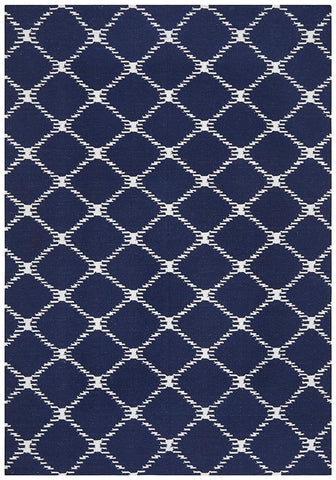 Nomad Pure Wool Flatweave 19 Navy Rug - DISCONTINUED