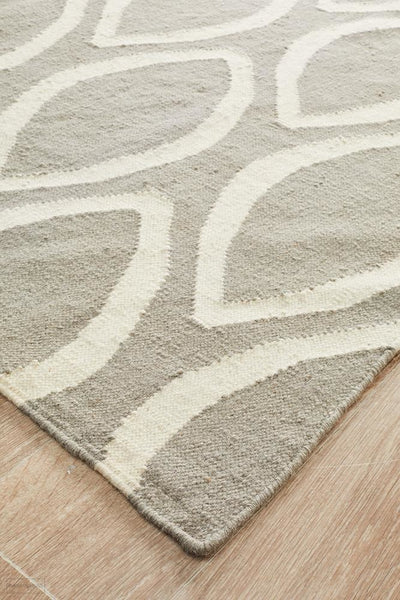 Nomad Pure Wool Flatweave 20 Grey Runner - DISCONTINUED