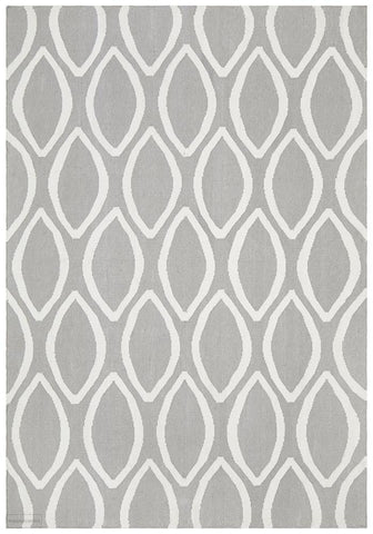 Nomad Pure Wool Flatweave 20 Grey Rug - DISCONTINUED