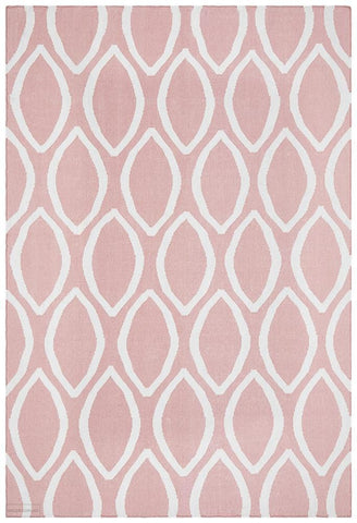 Nomad Pure Wool Flatweave 20 Pink Rug - DISCONTINUED