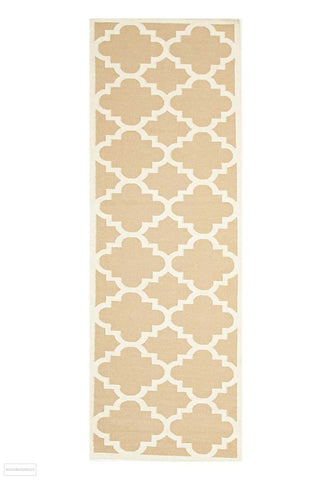 Nomad Pure Wool Flatweave 23 Beige Runner - DISCONTINUED