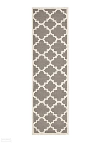Nomad Pure Wool Flatweave 23 Grey Runner - DISCONTINUED