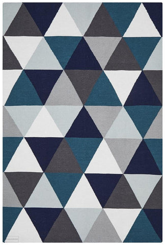 Nomad Pure Wool Flatweave 25 Blue Rug - DISCONTINUED