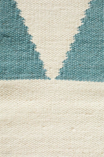 Nomad Pure Wool Flatweave 26 Blue Rug - DISCONTINUED