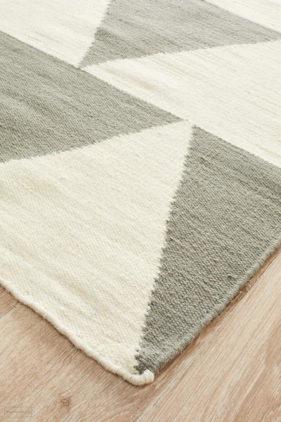 Nomad Pure Wool Flatweave 26 Grey Runner - DISCONTINUED
