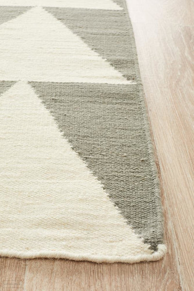 Nomad Pure Wool Flatweave 26 Grey Rug - DISCONTINUED