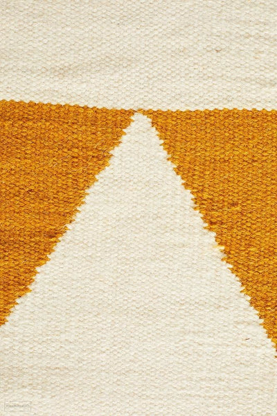 Nomad Pure Wool Flatweave 26 Yellow Runner - DISCONTINUED