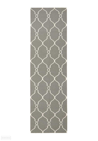 Nomad Pure Wool Flatweave 27 Grey Runner - DISCONTINUED