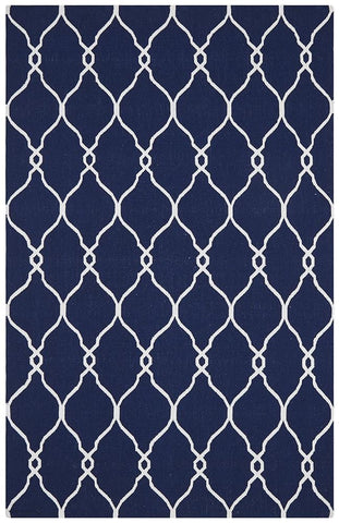 Nomad Pure Wool Flatweave 27 Navy Rug - DISCONTINUED