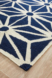 Nomad Pure Wool Flatweave 29 Navy Rug - DISCONTINUED