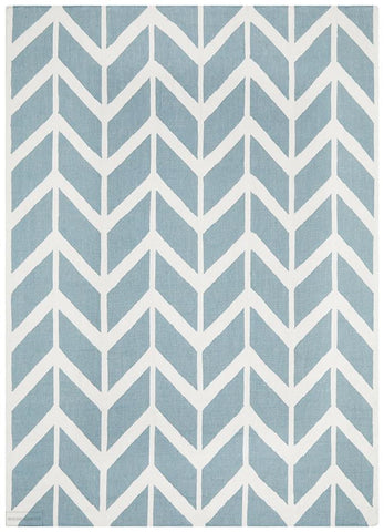 Nomad Pure Wool Flatweave 30 Blue Rug - DISCONTINUED