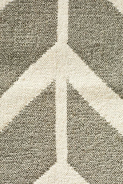 Nomad Pure Wool Flatweave 30 Grey Rug - DISCONTINUED
