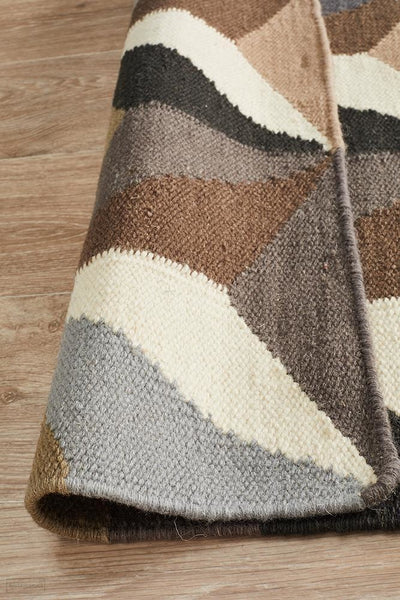 Nomad Pure Wool Flatweave 31 Grey Runner - DISCONTINUED