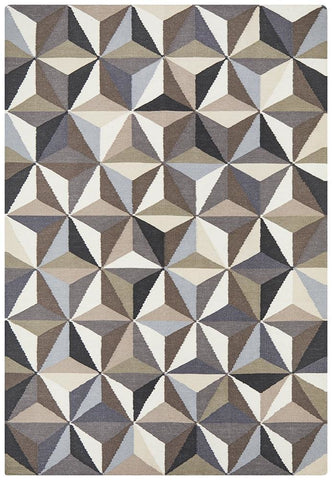 Nomad Pure Wool Flatweave 31 Grey Rug - DISCONTINUED