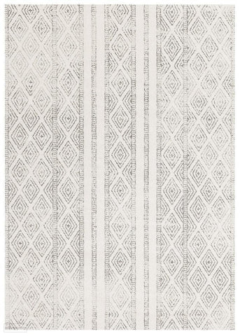 Oasis Salma White And Grey Tribal Rug - 230X160cm