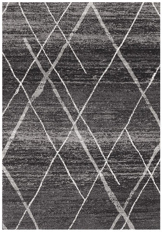 Oasis Noah Charcoal Contemporary Rug - 230X160cm