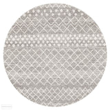 Oasis Selma Silver Tribal Round Rug - 150X150cm