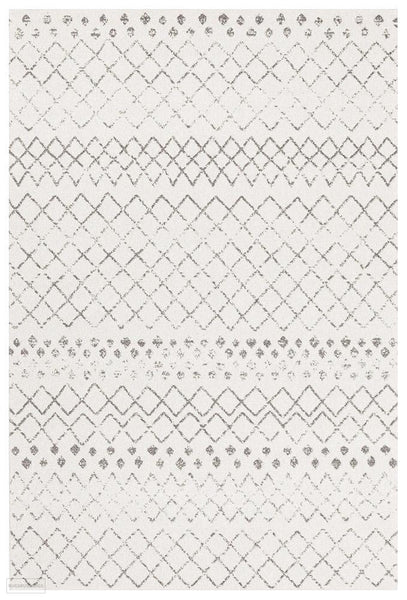 Oasis Selma White Grey Tribal Rug - 230X160cm
