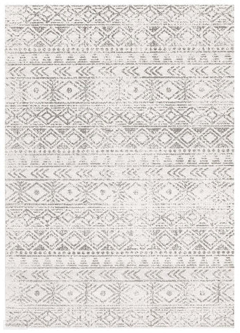 Oasis Ismail White Grey Rustic Rug - 230X160cm