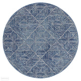 Oasis Kenza Contemporary Navy Round Rug - 150X150cm