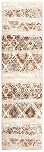 Oxford Mayfair Contrast Rust Rug - 300X80cm