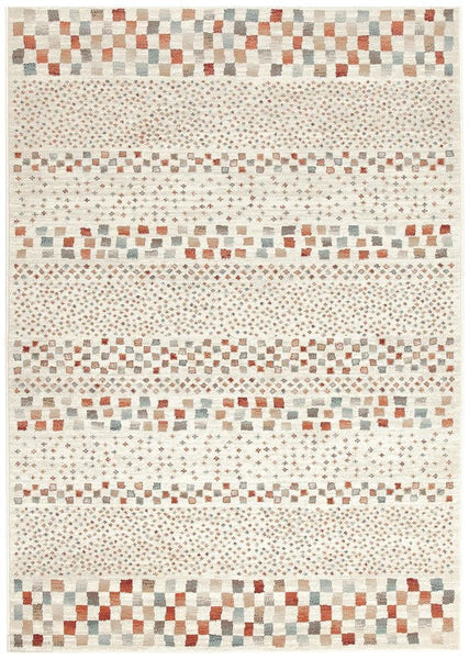 Oxford Mayfair Squares Bone Rug - 230X160cm