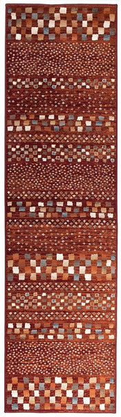 Oxford Mayfair Squares Rust Rug - 300X80cm