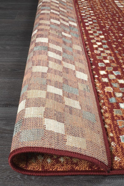 Oxford Mayfair Squares Rust Rug