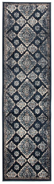 Oxford Mayfair Timeline Navy Rug - 300X80cm