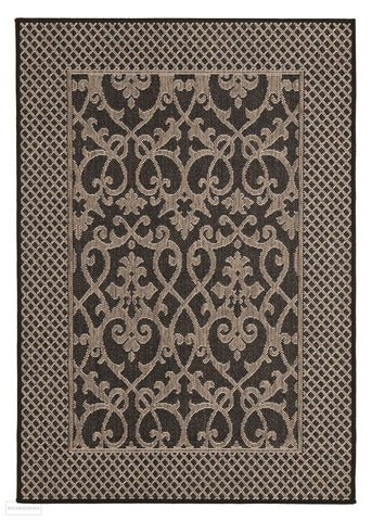 Singular Indoor Outdoor Modern Black Rug - Outdoor