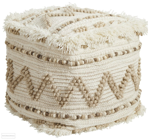 Rug Culture Home 508 Natural Ottoman - Ottoman