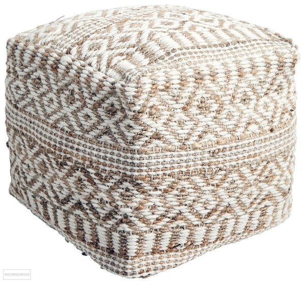 Rug Culture Home 519 Natural Ottoman - Ottoman