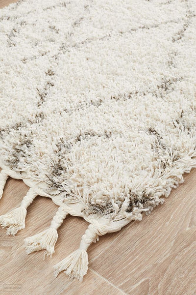 Saffron 55 Natural Runner Rug - MODERN