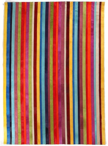 Spanish Carousel Premium Leather Rainbow Rug - Cheapest Rugs Online - 1