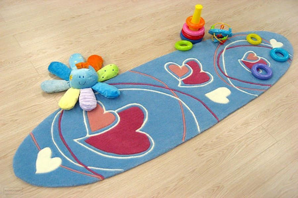 Smart Rugs Lovrhearts Blue - Cheapest Rugs Online - 2