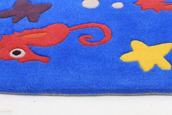 Smart Rugs Sea Horse Blue - Cheapest Rugs Online - 3