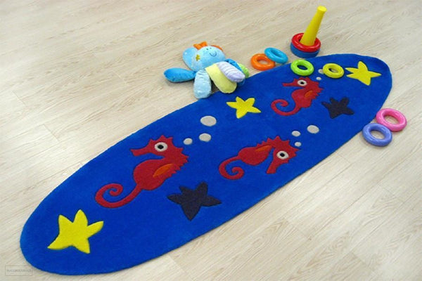 Smart Rugs Sea Horse Blue - Cheapest Rugs Online - 2