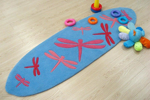 Smart Rugs Dragonfly Blue And Pink - Cheapest Rugs Online - 2