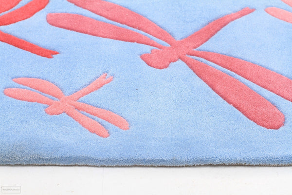 Smart Rugs Dragonfly Blue And Pink - Cheapest Rugs Online - 3